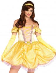 Geel betoverde prinses kostuum voor vrouwen