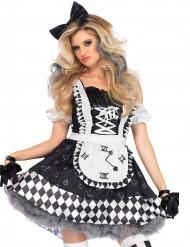 Zwart en wit wonderlijk prinses kostuum voor vrouwen