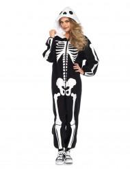 Skelet pak kostuum voor vrouwen