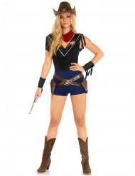 Sexy miss sheriff kostuum voor vrouwen