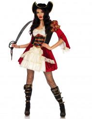 Sexy rood piratenkostuum voor vrouwen
