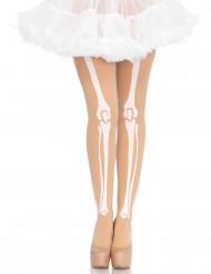 Huidkleurige skelet panty voor vrouwen