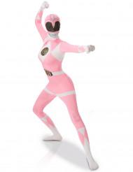 Roze Power Rangers™ second skin kostuum voor vrouwen