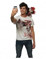 Clown selfie t-shirt voor volwassenen