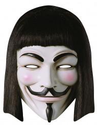Karton V for Vendetta™ masker voor volwassenen