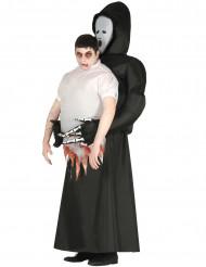 Gedragen door een reaper outfit voor volwassenen