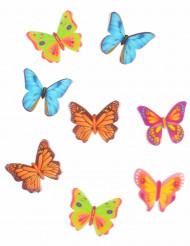 8 eetbare vlinder taartdecoraties