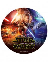Star Wars VII™ suiker taartdecoratie 20 cm