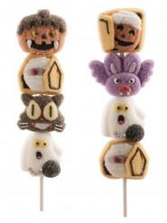 Halloween marshmallow spiesjes