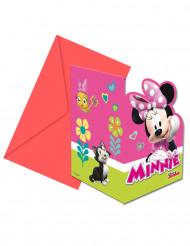 6 Minnie Happy™ uitnodigingen en enveloppen