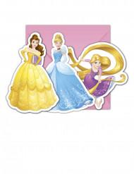 6 Disney Princesses™ uitnodigingen