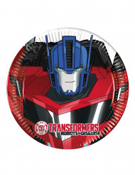 8 kleine Transformers Robots in Disguise™ borden