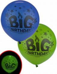 2 LED ballonnen Big Birthday Illooms®