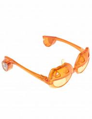 Lichtgevende pompoen bril voor volwassenen