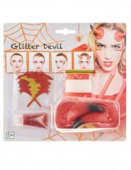 Duivel schmink set voor vrouwen