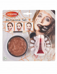 Zombie mond schmink set voor volwassenen