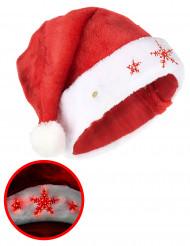 Lichtgevende sneeuwvlok kerstmuts voor volwassenen