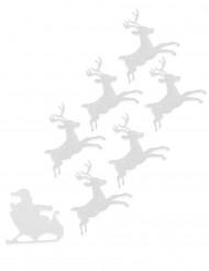 6 vilten rendieren en arreslee