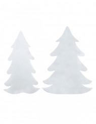 6 witte vilt dennenbomen