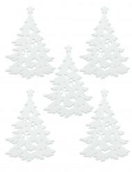 5 witte kerstdecoraties