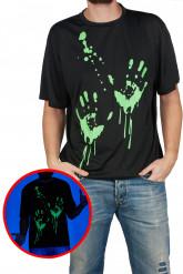 Fosforescerende handen t-shirt voor volwassenen
