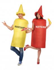 Mosterd en ketchup koppelkostuum