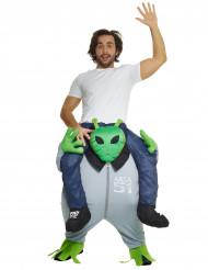 Alien carry me kostuum voor volwassenen