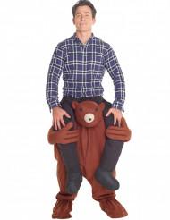 Knuffelbeer carry me kostuum voor volwassenen