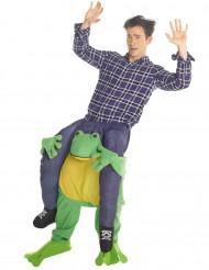 Kikker carry me kostuum voor volwassenen