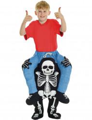 Man op de rug van een skelet kostuum voor kinderen