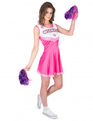 Roze Cheers cheerleader kostuum voor vrouwen