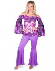 Paars disco kostuum voor vrouwen