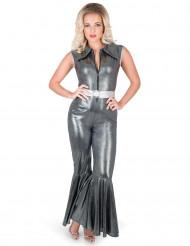Zilver zwart discopak voor vrouwen