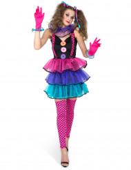 Carnaval clown kostuum voor vrouwen