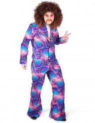 Psychedelisch disco kostuum voor mannen
