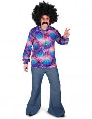 Psychedelisch disco overhemd voor heren