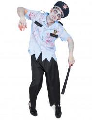 Zombie politie agent kostuum voor heren