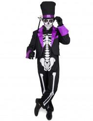 Paars Día de los Muertos kostuum voor mannen