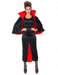Fluweelachtig Dracula gravin kostuum voor vrouwen