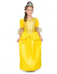 Geel prinses kostuum met glitters voor meisjes