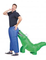 Opblaasbaar krokodil kostuum voor volwassenen