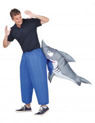 Opblaasbaar haai kostuum voor volwassenen