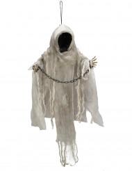 Skelet in ketting hangdecoratie met licht