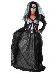 Dia de los Muertos skelet gravin kostuum voor vrouwen