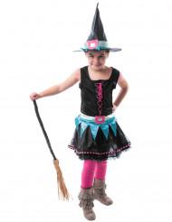 Kleurrijke heksen outfit voor meisjes