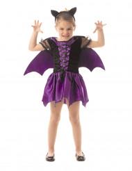Paars vleermuis kostuum voor meisjes