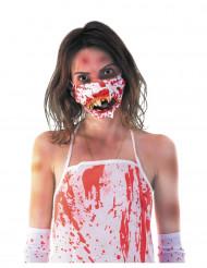 Bloederige mond zombie masker voor volwassenen