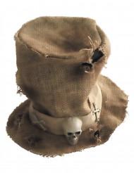 Jute skelet hoge hoed voor volwassenen