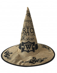 Jute heksenhoed voor volwassenen