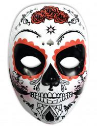 Wit Dia de los Muertos masker voor vrouwen